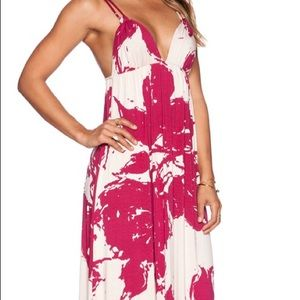 Rachel Pally Wilde Dress, pink amaryllis floral